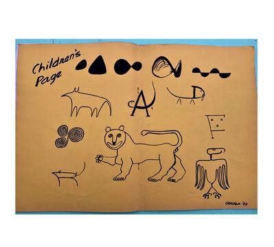 "Alexander Calder, '""Children's Page"", Calder Special Edition Insert, View Magazine (poetry art), Ivan Albright, Andre Masson, Seligmann', 1943"