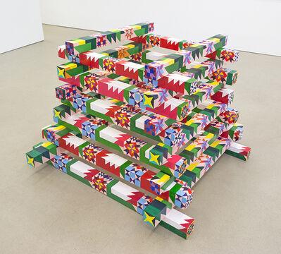 Carly Glovinski, 'Bonfire Quilt Stack (Modern Flame), 2018', 2018