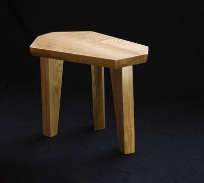 """Jacques Jarrige, 'PAIR of SIDE TABLES in oak by Jacques Jarrige """"Nazca""""', 2018"""