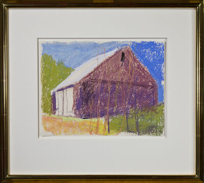 Wolf Kahn, 'Dark Barn with White Doors', 2004