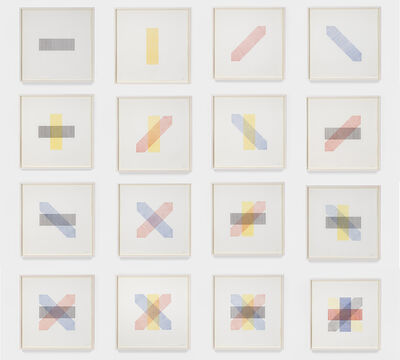 Sol LeWitt, 'Bands of Color in Four Directions and All Combinations ', 1971