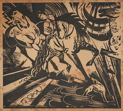 Franz Marc, 'Reitschule (nach Ridinger)', 1913