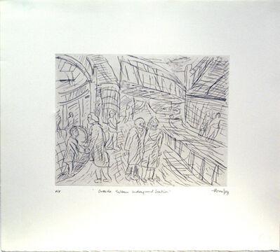 Leon Kossoff, 'Outside Kilburn Underground Station', 1984