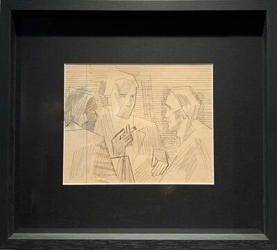 Henryk Stazewski, 'Three men with cigarette', ca. 1960