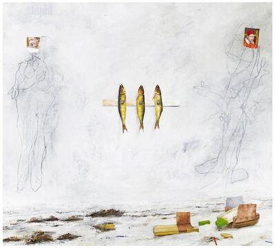 PG Thelander, 'Tre böcklingar med längtan till havet', 2012