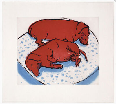 David Hockney, 'Horizontal Dogs (M.C.A.T. 346)', 1995