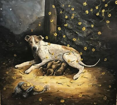 Chaz John, 'Rez Dog Mother and Puppies', 2019