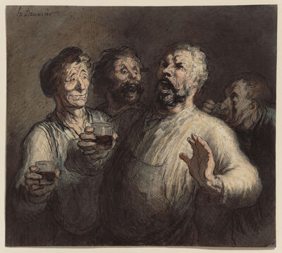 Honoré Daumier, 'The Drinkers', ca. 1860
