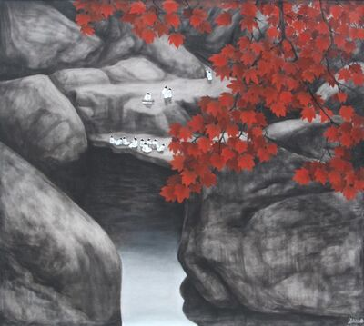 Sanzi 散子, '秋水伊人Autumn By The Water (Limited print)'