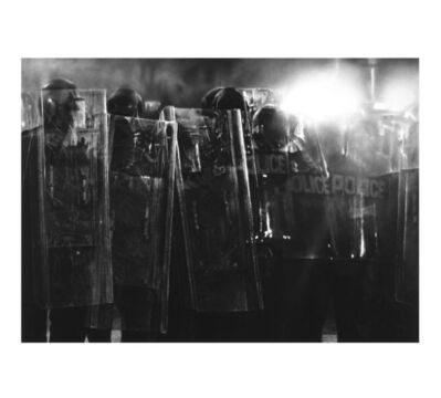 Robert Longo, 'Untitled (Riot Cops)', 2017