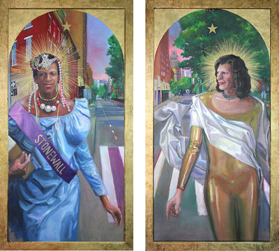Carl Grauer, 'Marsha P Johnson & Sylvia Rivera (Stonewall Warriors Diptych)', 2019