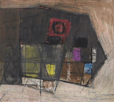 Wilhelmina Barns-Graham, 'Black Form with Lilac and Lime No.5', 1962