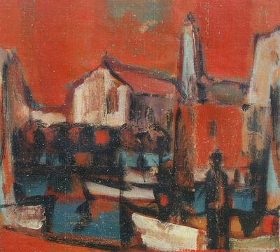 Herbert Siebner, ' Landscape with Figure', 1970