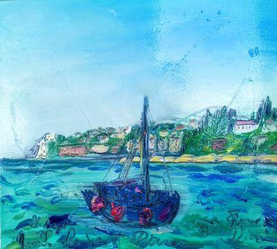 Norma de Saint Picman, 'Water paintings summer 2019 - plein air in situ paintings, boat - to the Bernardin', 2019