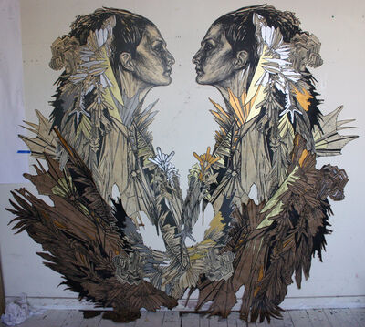 Swoon, 'Ice queen', 2011