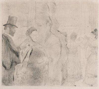 Edgar Degas, 'Ludovic Halévy Meeting Mme. Cardinal Backstage (Adhémar 56)', circa 1880-83