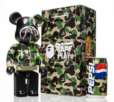 BE@RBRICK, 'Shark Hoddie 400%, set of three, with BAPE Pepsi Cans', 2001; 2015