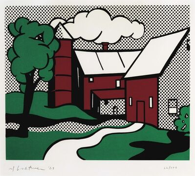 Roy Lichtenstein, 'Red Barn', 1969