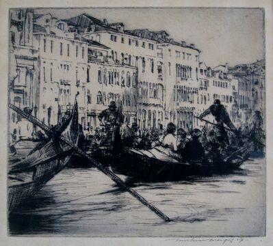 Mortimer Menpes, 'Gondolas, Venice', ca. 1910