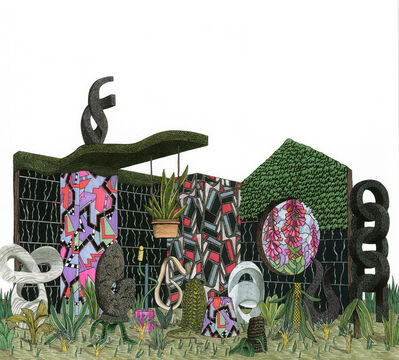 Luke Painter, 'Modern Sculpture Garden with Memphis Milano Patterns', 2013