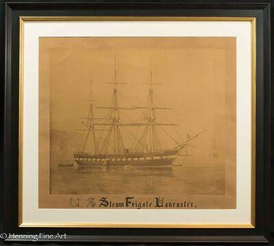 Carleton E. Watkins, 'U.S. Steam Frigate Lancaster', ca. 1863