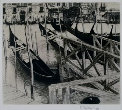 Wilfred Fairclough, 'Trahgetto, Venice', 1981