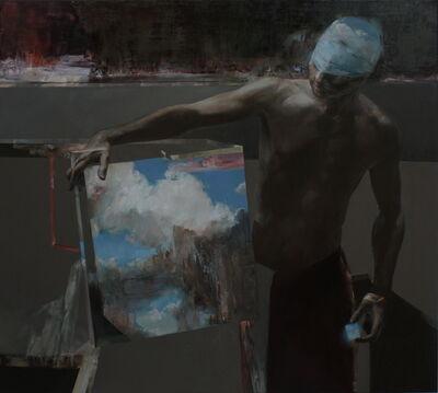 Mozes Incze, 'Man with clouds', 2019