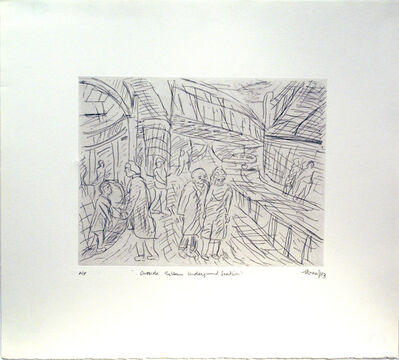 Leon Kossoff, 'Outside Kilburn Underground Station', 1983