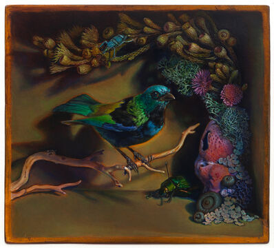 Kevin King, 'Diorama with Green-headed Tanager', 2014