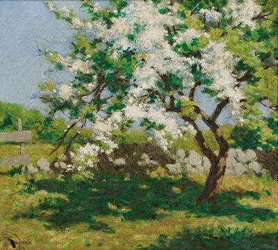 William Johnson Bixbee, 'Spring Landscape with Flowering Tree'