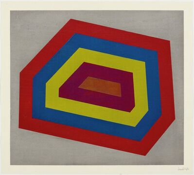 Sol LeWitt, 'Complex Form with Bands', 1991