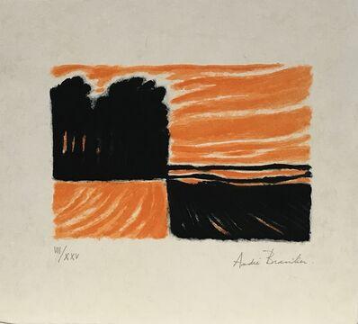 Andre Brasilier, 'Soir à Loupeigne', 1972