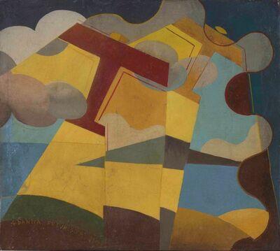 Giulio D'Anna, 'Aerei caproni+paesaggio', 1931
