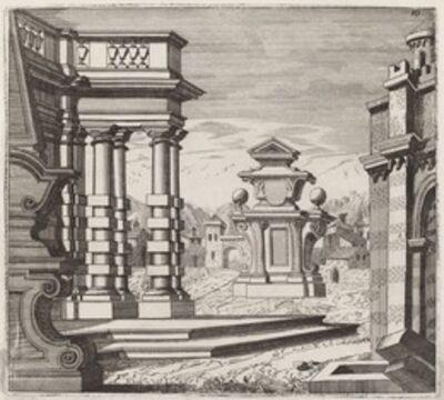 Giuseppe Antonio Landi, 'Architectural Fantasy with Portals and Monuments', before 1753