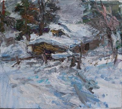 Ulrich Gleiter, 'In Finnish Lapland - Reindeer Barn at Dusk', ca. 2020