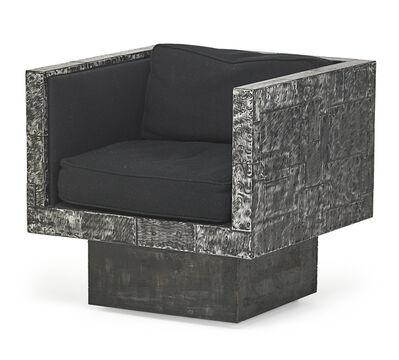 Paul Evans (1931-1987), 'Rare swiveling Argente lounge chair', 1970s