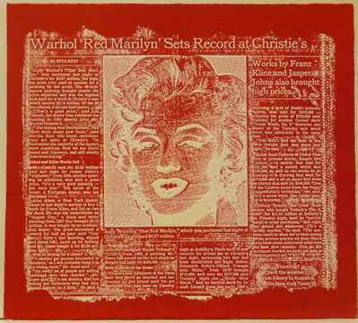 William Anastasi, 'Red Marilyn', 1990