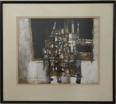 Baruj Salinas, 'Untitled Abstract Cuban Painting  Latin American Expressionist', 20th Century