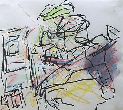 "Frank Auerbach, 'Study for ""From the Studios""', 1986-1987"