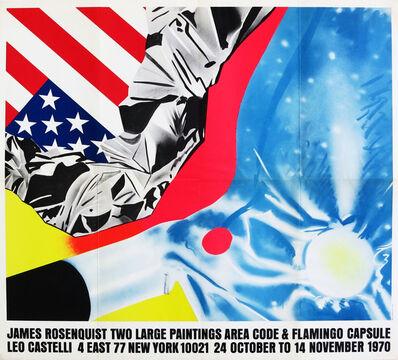 James Rosenquist, 'James Rosenquist 1970s Castelli exhibit poster (Rosenquist Flamingo Capsule)', 1970