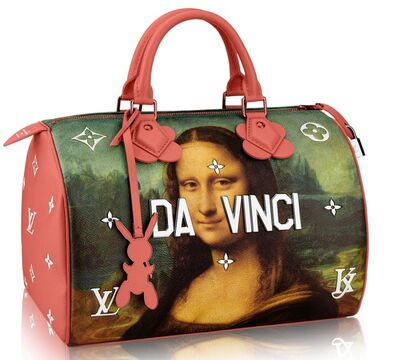 Jeff Koons, 'Limited Edition Leonardo Da Vinci bag for Louis Vuitton, exceptionally hand signed and dated by Jeff Koons', 2017