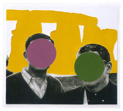John Baldessari, 'Stonehenge (With Two Persons) Yellow', 2005