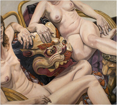 Philip Pearlstein, 'Two Models with Indonesian Mask', 2015