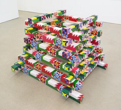 Carly Glovinski, 'Bonfire Quilt Stack (Modern Flame)', 2018