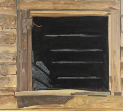Lois Dodd, 'Empty Window, Black', 1979