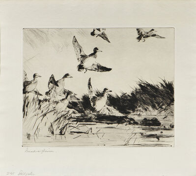 Frank Weston Benson, 'Two Impressions of Baldpates', 1924