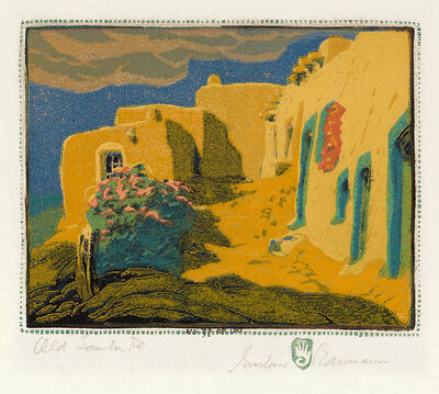 Gustave Baumann, 'Old Santa Fe', 1924