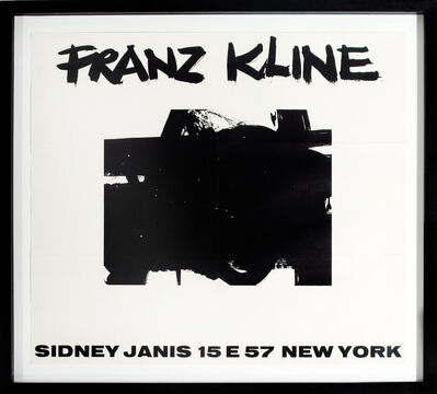 Franz Kline, 'Sidney Janis Invitation Announcement', 1956
