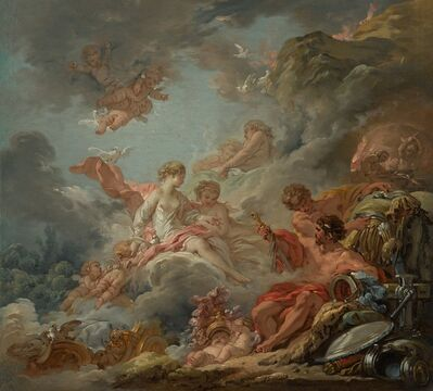 François Boucher, 'Vulcan Presenting Arms to Venus for Aeneas', 1756