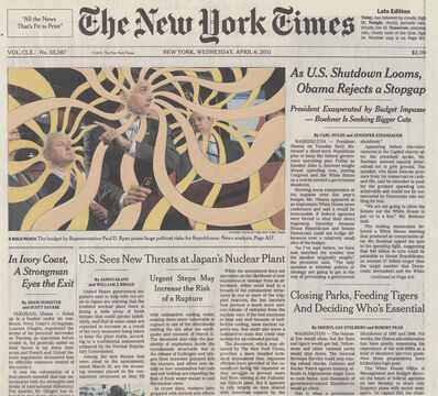 Fred Tomaselli, 'Apr. 6, 2011', 2012